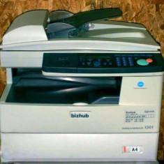 Copiator alb negru Konica Minolta, Copiatoare laser - Copiator Konica Minolta Bizhub 130f - Multifunctionala Alb-Negru