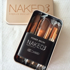 Trusa 12 pensule Make-up, NAKED 3 URBAN DECAY, Pensule ORIGINAL - Pensula make-up