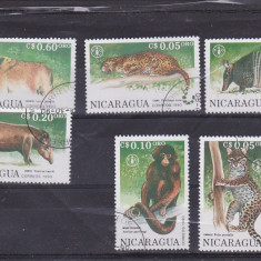 Timbre st. animale salbatice NICARAGUIA