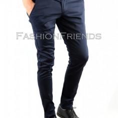 Pantaloni tip ZARA bleumarin - pantaloni barbati - pantaloni casual - cod 4606