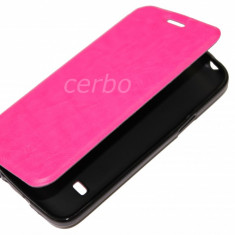 Husa Telefon Samsung, Universala, Roz, Piele Ecologica, Cu clapeta, Husa - HUSA SAMSUNG GALAXY S5 mini roz UB