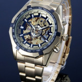 CEAS FULL AUTOMATIC WINNER TM340 TACHYMETER GOLD SKELETON-MODEL 2016-REDUCERE !!