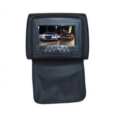 DVD Player Portabil - Resigilat - Tetiera cu monitor 7 inch culoare Negru, PNI 667C-B