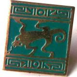 T3. INSIGNA PIN RECLAMA TIGARI CAMEL SAUVAGINE SOPARLA GUSTER, 18 x 17 mm **