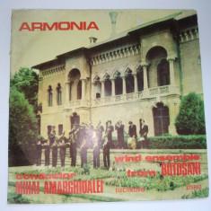 Disc RAR - vinil Orchestra de suflatori Armonia - Wind ensemble from Botosani, conductor Mihai Amarghioalei cu autograf - Muzica Country electrecord