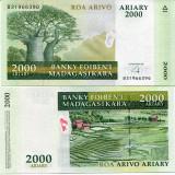 !!! MADAGASCAR - 2.000 ARIARY (2014) - P NEW - UNC // HIBRID