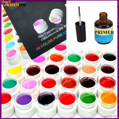 Gel unghii - KIT SET GEL 36 COLOR COLORATE 5ml (8G)GDCOCO pt LAMPA UV