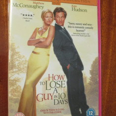 HOW TO LOSE A GUY IN 10 DAYS - film DVD - cu MATTHEW MCCONAUGHEY si KATE HUDSON (original din Anglia, in stare impecabila!!!) - Film comedie, Engleza