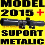 LUNETA METALICA 4X20 pentru Arma Pusca Airsoft cu Aer Comprimat Arbaleta Tir