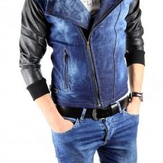 Geaca de blugi tip ZARA - geaca slim fit - geaca fashion - 3628 - Geaca barbati, Marime: L, XL, Culoare: Din imagine