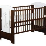 Patut lemn pentru bebelusi, 120x60cm - Patut SAFARI GIRAFFE KLUPS Din Lemn Pentru Copii
