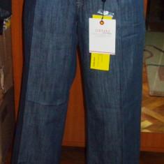 NOU Blugi lungi albastri evazati largi pantaloni VERO MODA DENIM W 28 - Blugi dama Vero Moda, Culoare: Bleumarin, Normal, Normala
