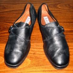 Pantof dama Made in Italia din piele Katrin Italia marimea 39 - Super Pret, Culoare: Negru, Piele naturala