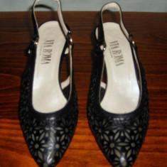 Pantof dama Made in Italia piele Via Roma Italia marimea 37 - Super Pret, Culoare: Negru, Piele naturala