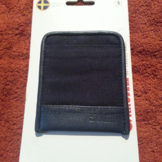 Husa piele Sony Ericsson Xperia Krusell Lund S Blister, Universala, Negru, Saculet, Fara snur