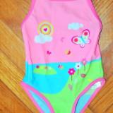 Haine Copii 1 - 3 ani, Costume de baie, Fete - Nou! Costum de baie vesel fluturasi, marca FF kids, fetite 18-24 luni/ 92 cm