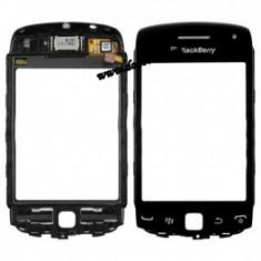 Touchscreen BlackBerry Curve 9380 Rama negru - Touchscreen telefon mobil