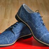 Pantofi Casual Style, DENIM Blue, Piele Naturala interior Marime 44, 5 - Pantofi barbati, Culoare: Din imagine