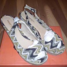 Sandale dama, Textil - Sandale platforma
