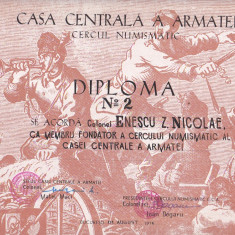 Bnk div - Lot 4 diplome expozitii numismatice - Expozitii CCA