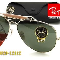 Ochelari de Soare Ray Ban Rayban Model 3029 UV outdorsman FULL Pack CALITATE, Unisex, Pilot
