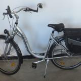 Bicicleta de oras, 24 inch, 27.5 inch, Numar viteze: 7, Aluminiu, Gri metalizat - Bicicleta MARVEL Elegance