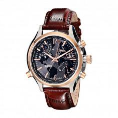 Ceas barbatesc - Ceas Timex Intelligent Quartz World Time Leather Strap Watch   100% originali, import SUA, 10 zile lucratoare