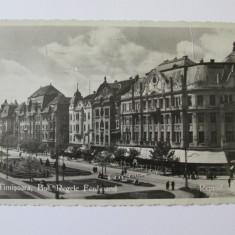 C.P. TIMISOARA BULEVARDUL REGELE FERDINAND 1938 - Carte Postala Oltenia dupa 1918, Craiova, Circulata, Fotografie