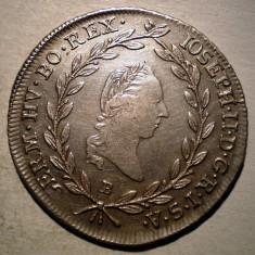 E.460 AUSTRIA JOSEPH II 20 KREUZER 1787 B XF ARGINT 6, 62g - Moneda Medievala, Europa