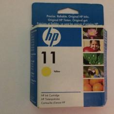 Cartus imprimanta - Cartus HP 11 YELLOW CARTUS CERNEALA - ORIGINAL - Poze reale