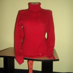 Bluza pe gat de dama Biaggini - Helanca dama, Marime: M, Culoare: Rosu