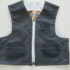 Costumas elegant pentru baieti, 2 piese, de vara, 2-3 ani, ilic/vesta si pantalo, Culoare: Din imagine, Unisex