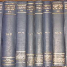 Carte veche - Recensamantul general al populatiei Romaniei - (Vol. 1,, 4, 5, 6, 7, 9, 10) - 1930