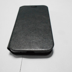 Husa 4 Samsung Galaxy Core Prime G360F - Husa Telefon Akella, Negru, Piele, Cu clapeta