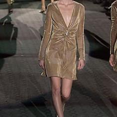 Rochie din lurex Gucci by Tom Ford, 100% originala - Rochie cocktail Gucci, Marime: M, Culoare: Din imagine, S/M, 3/4