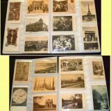 1900-1940 Lot 100 carti postale straine pictura, arhitectura, orase, monumente, Ambele, Printata, Europa