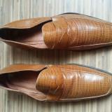 Pantofi Yves Saint Laurent originali, piele naturala, nr.43, superbi. - Pantofi barbati Yves Saint Laurent, Culoare: Maro
