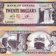 GUYANA 20 dollars ND 2009 UNC!!!