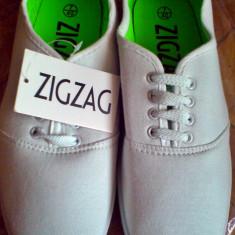 Tenisi/Espadrile Zig Zag cu siret, alb 40 - IN STOC - Espadrile dama