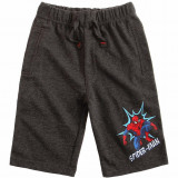 Pantaloni scurti baieti 4-10 ani - Spiderman - gri inchis