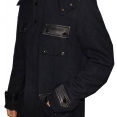 Palton barbati, Lana - Palton Fashion tip Zara Man, Din Lana, Foarte Gros