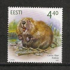Timbre straine, Nestampilat - Estonia.2005 Animale salbatice HE.177