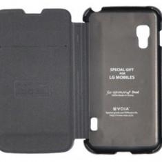 Husa LG Optimus L5 II E460 + stylus, LG Optimus L9, Negru, Piele Ecologica