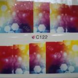 Tatuaj transfer pe baza de apa sticker pentru decorare unghii Full Tip C 122 - Unghii modele