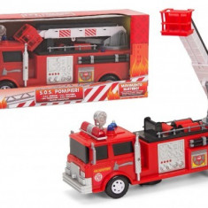 Masinuta de jucarie - Masina de pompieri cu sunete si lumini