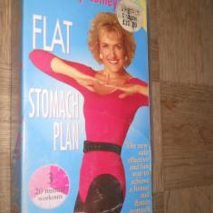 FLAT STOMACH PLAN - ROSEMARY CONLEY'S ( AEROBIC ) - CASETA VIDEO VHS - Program Exercitii fizice, Engleza