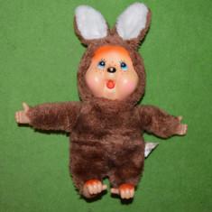 RAR - Jucarie plus mascota Monchhichi (kiki) iepure Heunec 30 cm DEOSEBIT! - Colectii