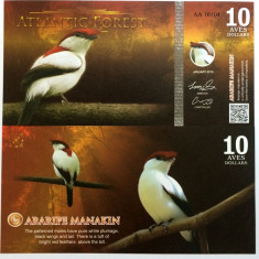 ATLANTIC FOREST- 10 AVES 2016(2015)- UNC!! - bancnota america