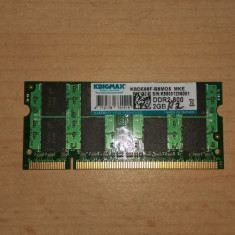 Ram Laptop Kingmax DDR2-800 2Gb KSDE88F-B8MO5 - Memorie RAM laptop Kingmax, 800 mhz