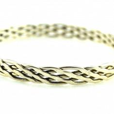 Bratara din argint, Femei - Bratara argint retro, model cerc impletit, design inspiratie etnica celtic knots